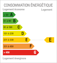 Diagnostic de performance Energétique du bien : E