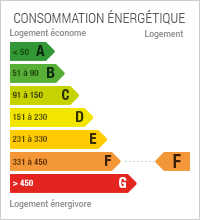 Diagnostic de performance Energétique du bien : F